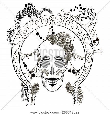 Skull Frame Images, Illustrations & Vectors (Free) - Bigstock