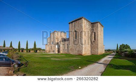 Mosteiro de Santa Maria de Flor da Rosa Monastery. Hospitaller Knights aka Order of Malta Headquarters, a Crusader Order. Used as Hotel of Pousadas de Portugal / Historical Inn. Crato, Portugal