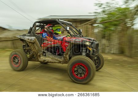 Pedernales, Manabi, Ecuador -  December 9, 2017:  Racing In The Baja Pedernales Off Road Race