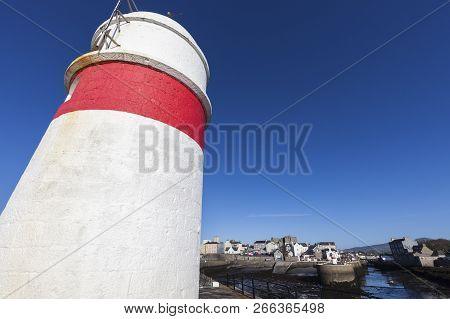 Lighthouse In Castletown, Isle Of Man. Douglas, Isle Of Man.