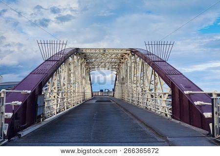 Bridge In Ramsey On The Isle Of Man. Ramsey, Isle Of Man.