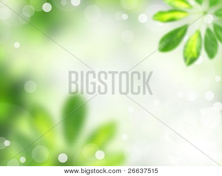Green blur floral background