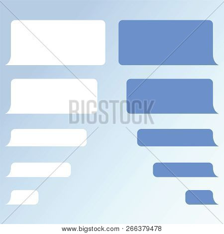 Message Bubbles Chat Vector. Vector Template Of Message Bubbles Chat Boxes Icons. Chat Messages Noti