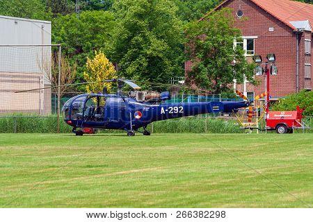 Leeuwarden, Netherlands - Jun 21, 2008: Royal Netherlands Air Force Aerospatiale Alouette Iii Helico