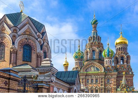 St.petersburg, Russia, The Churh Of Resurrection (savior Of Spilled Blod)