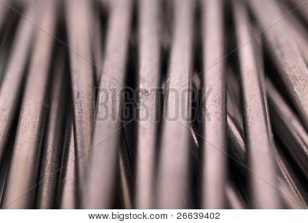 Iron nails detail
