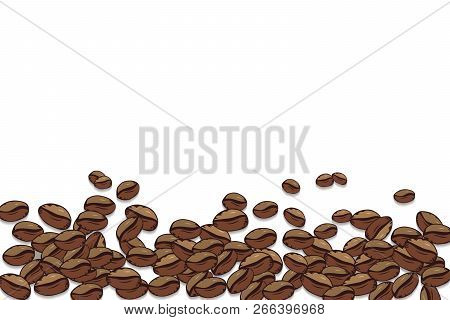 Vector Coffee Background. Decorative Square Background With Place For Your Text.frame Coffee Beans O