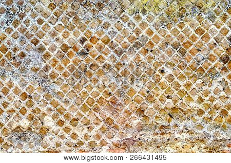 Stone Brick Wall Texture With Copy Space, May Use As Background