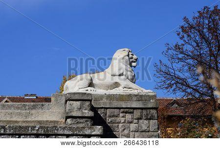 Drobeta Turnu Severin City Romania Monument Of Heroes Landmark Lion