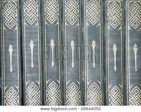 Antique books background