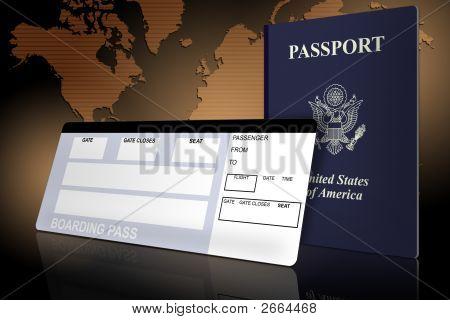 Passport And Airline Ticket