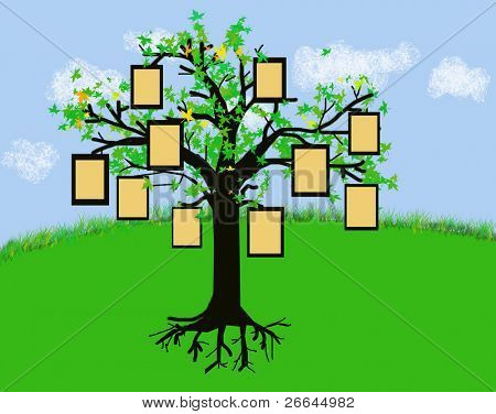 A tree with frames, jpeg illustration