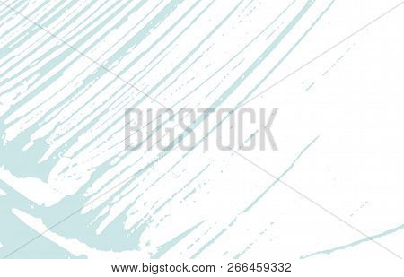 Grunge texture. Distress blue rough trace. Bizarre background. Noise dirty grunge texture. Classic artistic surface. Vector illustration. poster