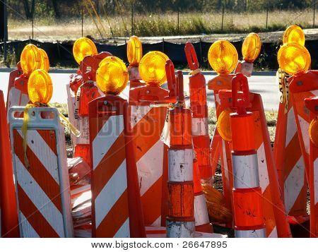 Lots of traffic cones