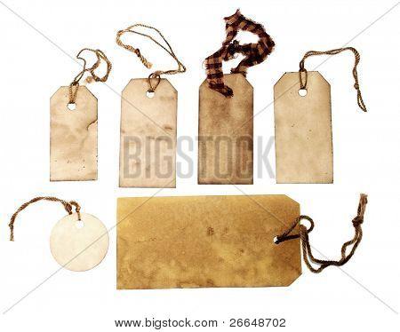 Vintage hang tags