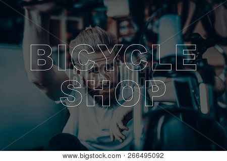 Bicycle Shop. Salesman Looking The Bicycle. Young Beard Man. Hipster Man Thinking. Man Searching The
