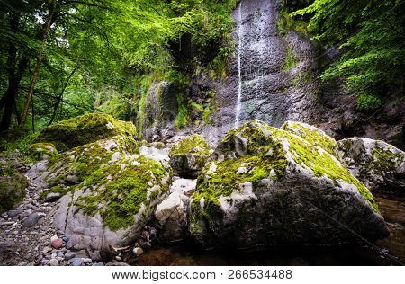 Arifat cascades, waterfall in Tarn, Occitanie, France