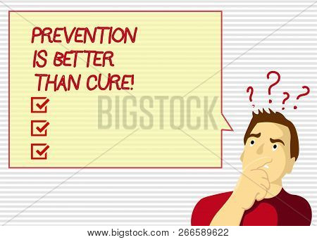 Handwriting Text Prevention Is Better Than Cure. Concept Meaning Disease Is Preventable If Identifie
