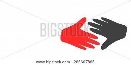 Fair Trade Handshake Icon On A White Background. Isolated Fair Trade Handshake Symbol With Flat Styl