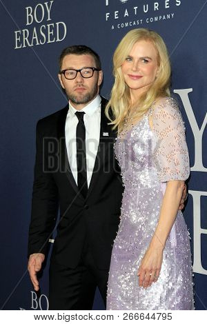 WEST HOLLYWOOD - OCT 29: Joel Edgerton, Nicole Kidman arriving at the Premiere of Boy Erased at the Directors Guild of America on October 29, 2016 in West Hollywood, California