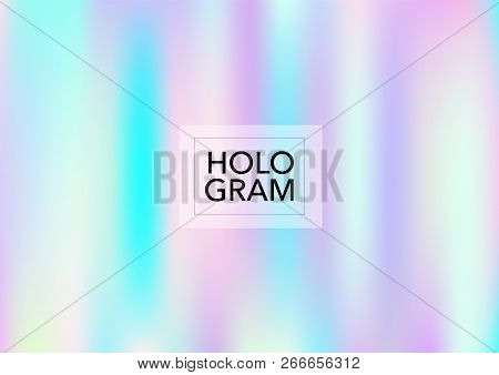 Magic Hologram Gradient Vector Background. Luxury Trendy Tender Pearlescent Color Overlay. Vibrant H