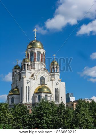 The Church On Blood Is A Russian Orthodox Church Of The End Of The 20th Century And A Museum Built O