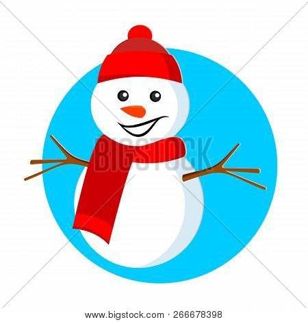 Snowman. Christmas Snowman. New Year And Christmas. Merry Christmas. Vector Stock Illustration.