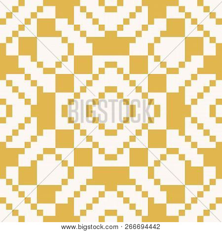 Vector Geometric Traditional Folk Ornament. Ethnic Tribal Seamless Pattern. Repeat Ornamental Backgr