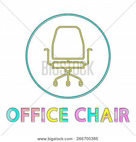 Office Chair Seat Handles For Arms. Closeup Of Stool To Sit Comfortably. Icon Of Empty Spot Made In