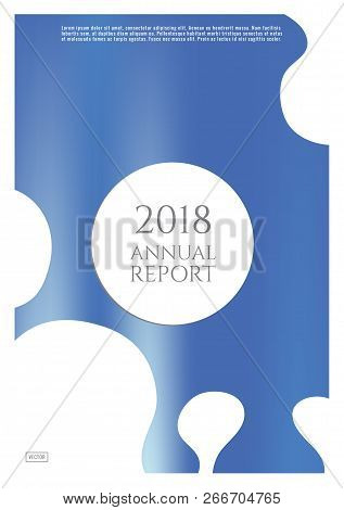 Blue Cover Design Template. Notebook Creative Layout. Background For Corporate Annual Report, Poster