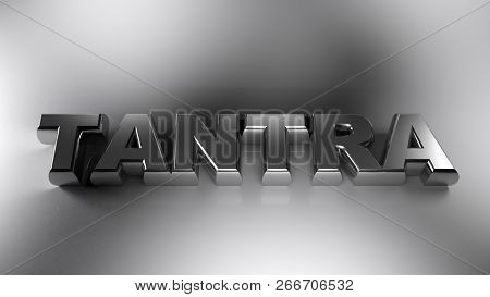 Tantra Metal Chrome On White Surface - 3d Rendering Illustration
