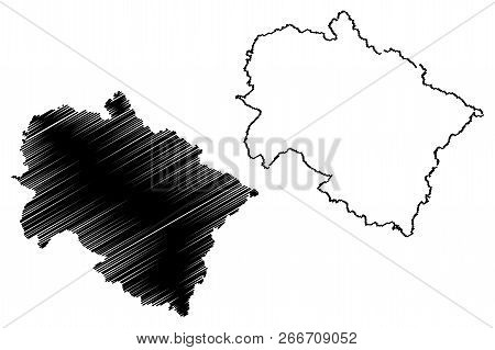 Uttarakhand (states And Union Territories Of India, Federated States, Republic Of India) Map Vector
