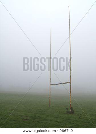 Foggy Rugby Goalposts