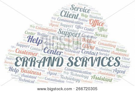 Errand Services Word Cloud. Wordcloud Made With Text Only.