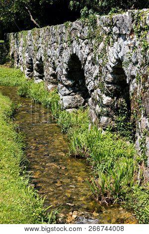 Medieval Aqueduct In The Konavle Valley In Croatia