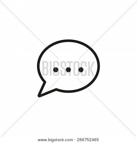 Chatting Line Icon. Text In Speech Bubble. Dialog Concept. Can Be Used For Topics Like Monologue, Te