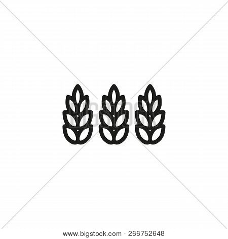 Gluten Free Line Icon Vector & Photo (Free Trial) | Bigstock