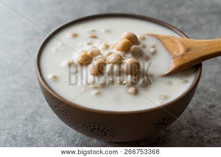 Cold Yogurt Soup With Chickpeas And Wheat Seeds / Ayran Asi Corbasi / Tzatziki