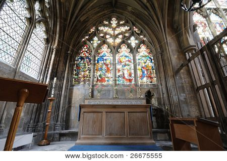 St. Mary's Cathedral Interior at Beverley, England.