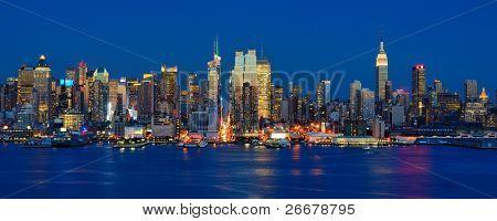 New York City skyline viewed from Weehawken, New Jersey.