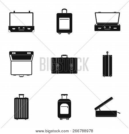 Tourism Bag Icon Set. Simple Set Of 9 Tourism Bag Icons For Web Design On White Background