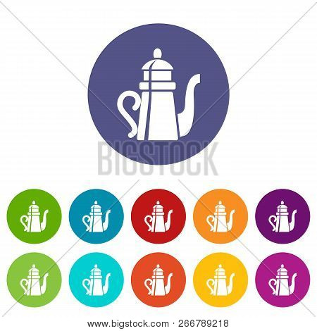 Tall Teapot Icon. Simple Illustration Of Tall Teapot Icon For Web