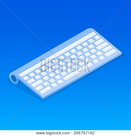 Wireless Keyboard Icon. Isometric Of Wireless Keyboard Icon For Web Design Isolated