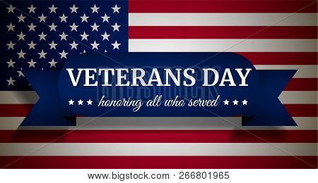 Usa Veterans Day Concept Background. Realistic Illustration Of Usa Veterans Day Concept Background F