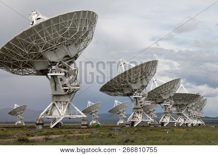 The Very Large Array (vla) Radio-astronomy Antennas, In New Mexico, Is One Of The Most Impressive Ob