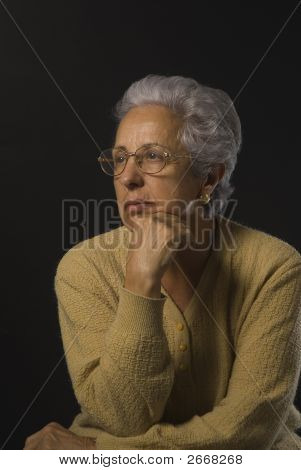 Portrait Of A Senior Lady