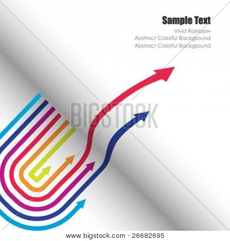 Colored vector arrows for cover page