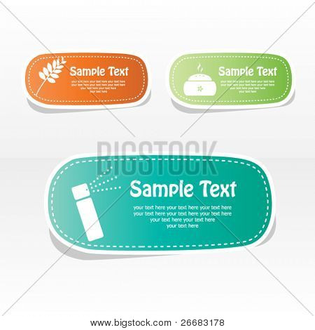 Spa vector sticker with place for your text