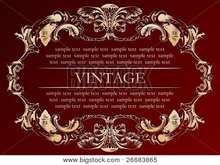 vector vintage frame cover stock