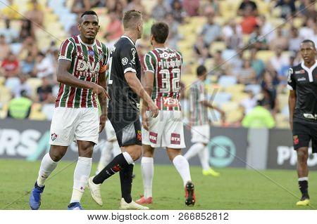 Rio, Brazil - November 03, 2018: Maxi Lopez Player In Match Between Fluminense And Vasco By The Braz